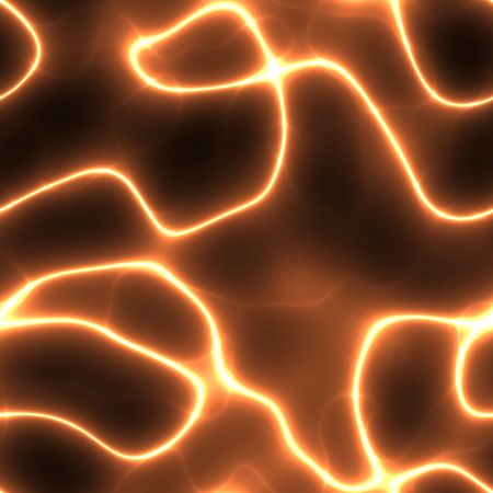 dendrites: abstract neon orange electricity or neuron lines over black, seamlessly tillable as a pattern