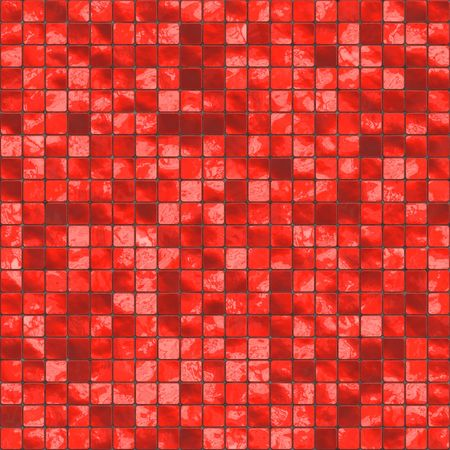 seamlessly: red ceramic tiles, will tile seamless as a pattern Stock Photo