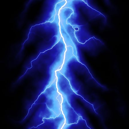blue lightning bolt over black