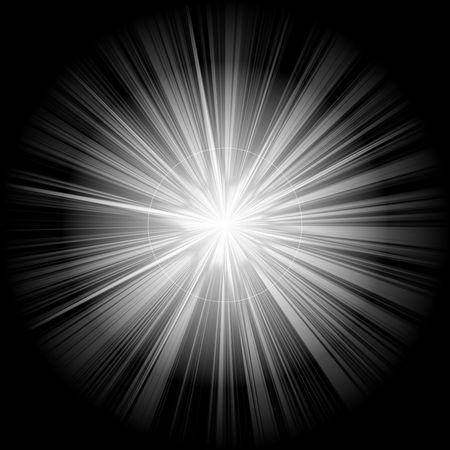 supernova: white christmas star or supernova over black