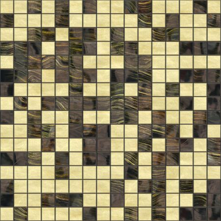 mosaic floor: brown golden tiles background that tiles seamless as a pattern