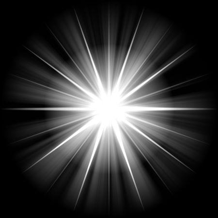 supernova: white star or supernova over black