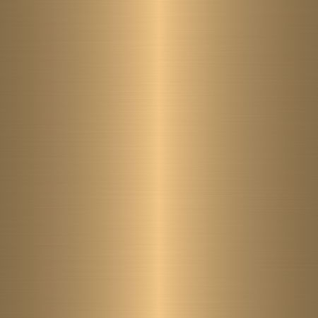 brass plate: golden brushed metal background Stock Photo