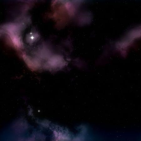 borealis: night sky with tiny stars and Aurora Borealis