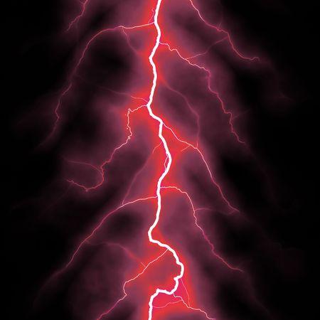 red lightning bolt over black