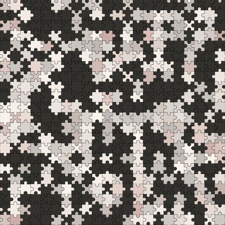 complete: black white jigsaw, tiles seamless as a pattern