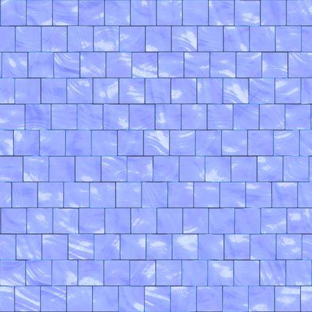 architectonic: blue ceramic tiles for kitchen or bathroom, seamlessly tillable Stock Photo