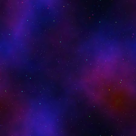 borealis: night sky with tiny stars and Aurora Borealis, tiles seamlessly as a pattern Stock Photo