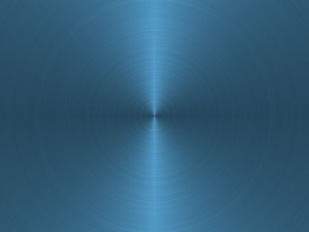 brushed aluminium: circular blue brushed metal background Stock Photo