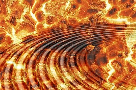 fire background with water ripples photo