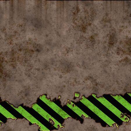 green black hazard stripes over concrete wall photo
