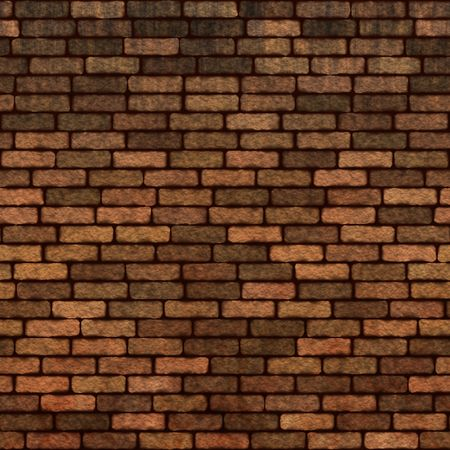 wall textures: old dark brick wall, will tile seamlessly as a pattern Stock Photo