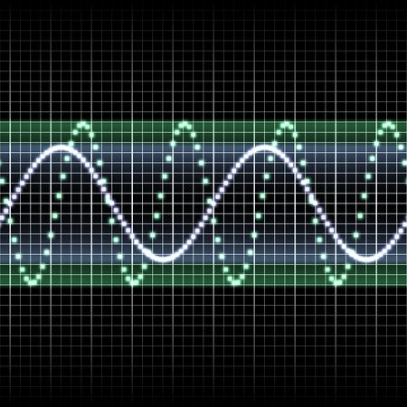 digitally created sound wave pattern, seamlessly tillable Stock Photo - 6343298