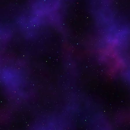 purple stars: nebula with multicolored stars background that tiles seamless in all directions Stock Photo