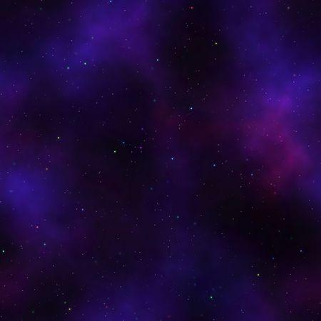 estrellas moradas: Nebulosa con fondo de estrellas multicolores que azulejos sin problemas en todas las direcciones  Foto de archivo