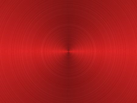 red sheet: circular brushed red metallic background with central, horizontal highlight  Stock Photo