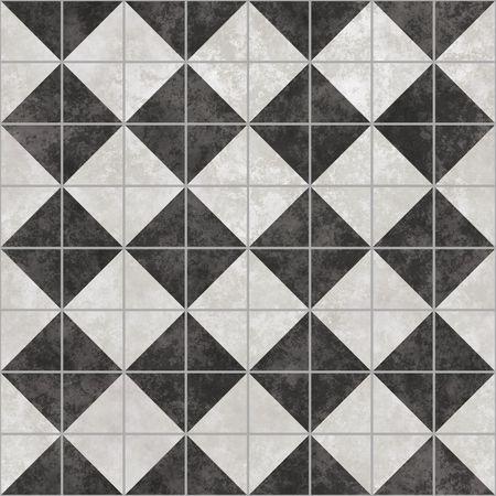 azulejos ceramicos: blancos y negro de los azulejos que mosaico transparente en todas las direcciones Foto de archivo