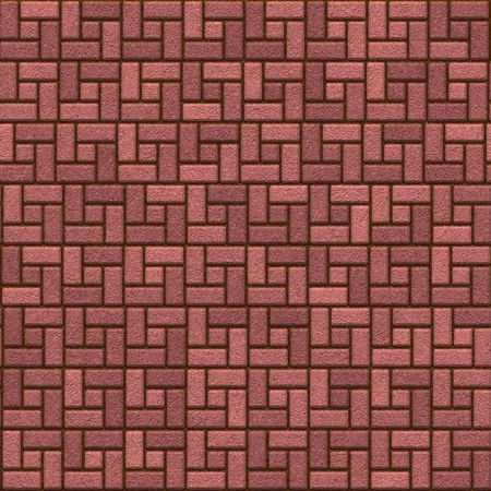 brick stone pavement, tiles seamless as a pattern in all directions photo