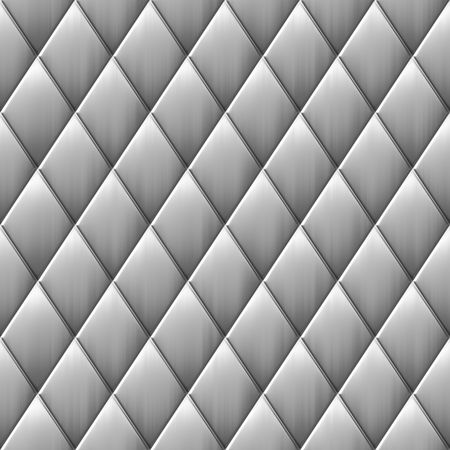 tillable: brushed metal background with diamond style squares, will tile seamless Stock Photo