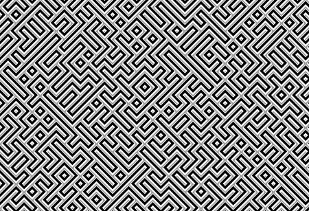 metalic texture: black silver labyrinth or maze background