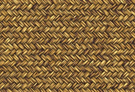golden abstract woven straw wicker background texture photo