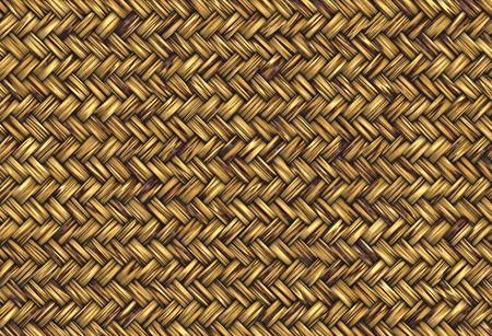 Golden abstrakte gewebter Stroh Wicker Hintergrundtextur