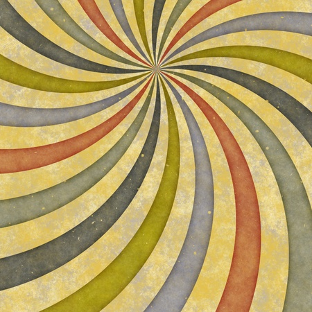 radial: Retro swirl sunburst background, off center.
