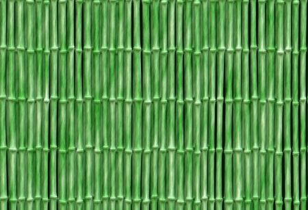 small bamboo background texture with aligned, regular, green stalks photo