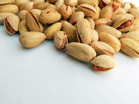 Pistachio Beans isolated on white background Stock Photo - 13721051