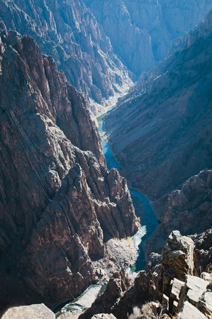 Black Canyon of Gunnison, Pulpit Rock Stock Photo