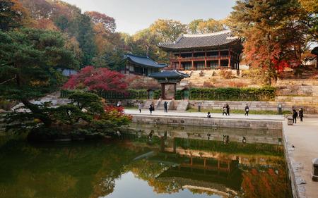 Pavilion at Secret Garden at Changdeokgung Palace, Seoul