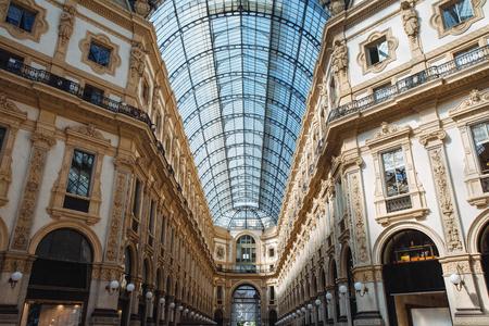 Arcade inside Galleria Vittorio Emanuele II at Milan