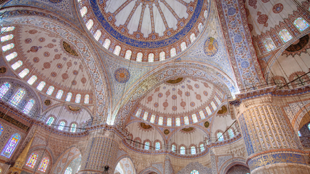Interior View of the Blue Mosque (Sultan Ahmed Mosque), Istanbul