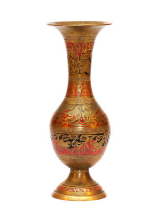 d cor: Metal souvenir vase made in India in 60-s of 20 century