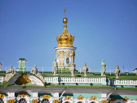 sublime: Golden dome on the roof of the Hermitage (Winter Palace)