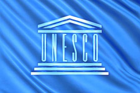 the united nations: Bandera de Organizaci�n de las Naciones Unidas y el vidrio