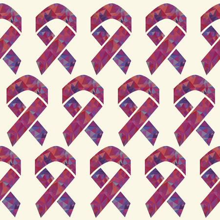 Red AIDS awareness ribbon vector pattern