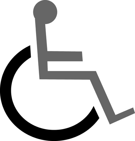 handicap sign: icono de signo de wheelcher