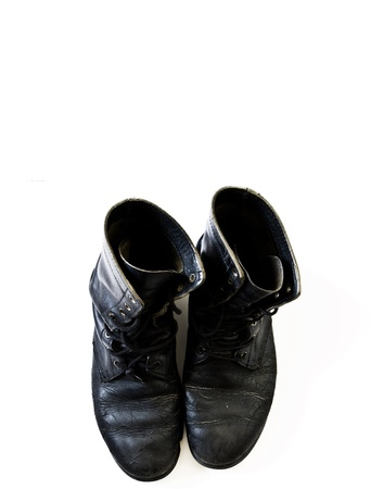 Old black boots photo