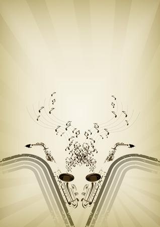 jazz club: Arri�re-plan de jazz flyer