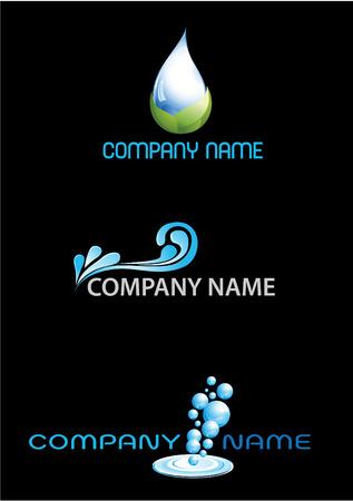 Water Logos Stock Vector - 8562983