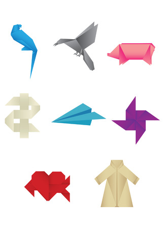 Various origami Vector items Stock Vector - 8828417
