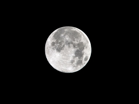 harvest moon full frame close up as seen from malibu, los angeles, southern california, usa Stock Photo