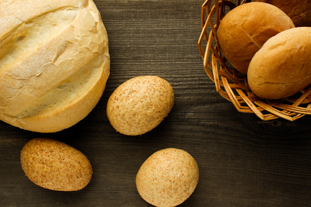 bakery products: Bakery products on a wooden surface