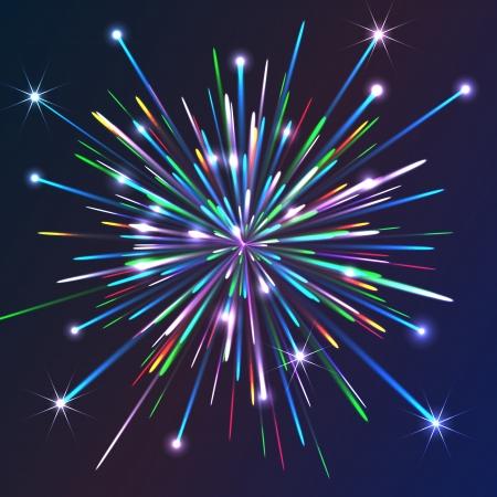 bursting: Colorful Vector Fireworks
