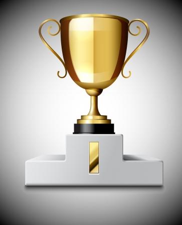 conquistando: Gold Trophy Copa Vectores