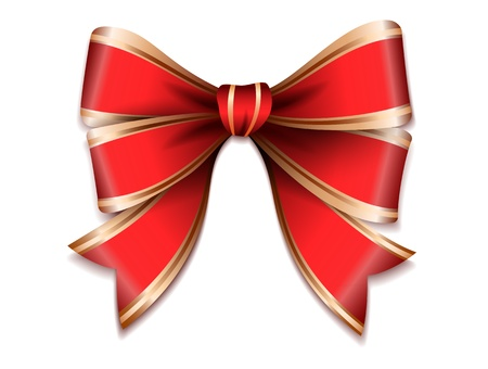 Red and gold  gift bow