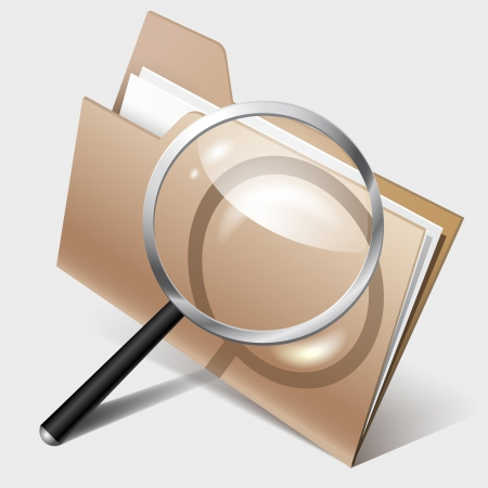 Search Icon, folder and magnifier Stock Vector - 18793006