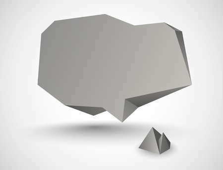 Abstract Stone Speech Bubble