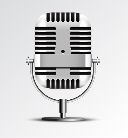 Retro microphone vector illustration. Stock Vector - 19052504